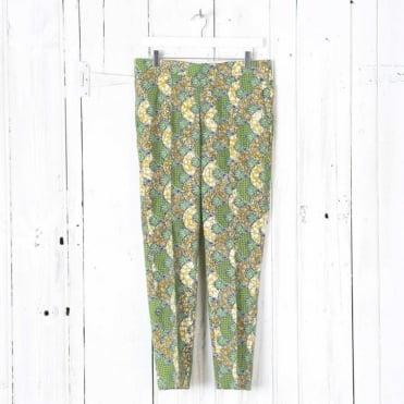 Green Print Trouser