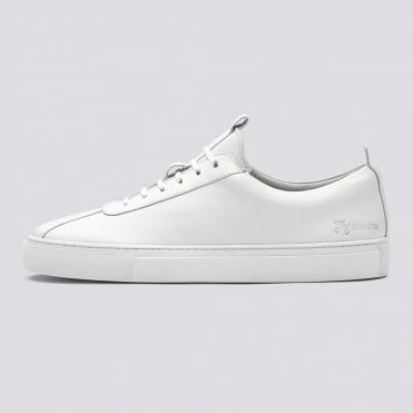 Calf Leather Clean Sneaker in White