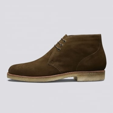 Oscar Lace Up Boot in Snuff Suede Brown