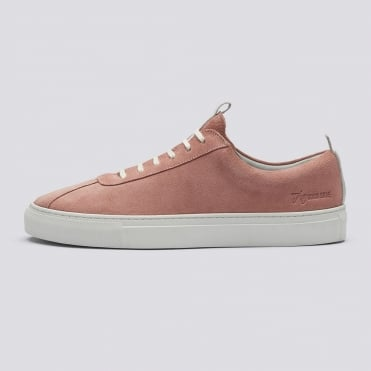 Pink Suede Lace Up Sneaker