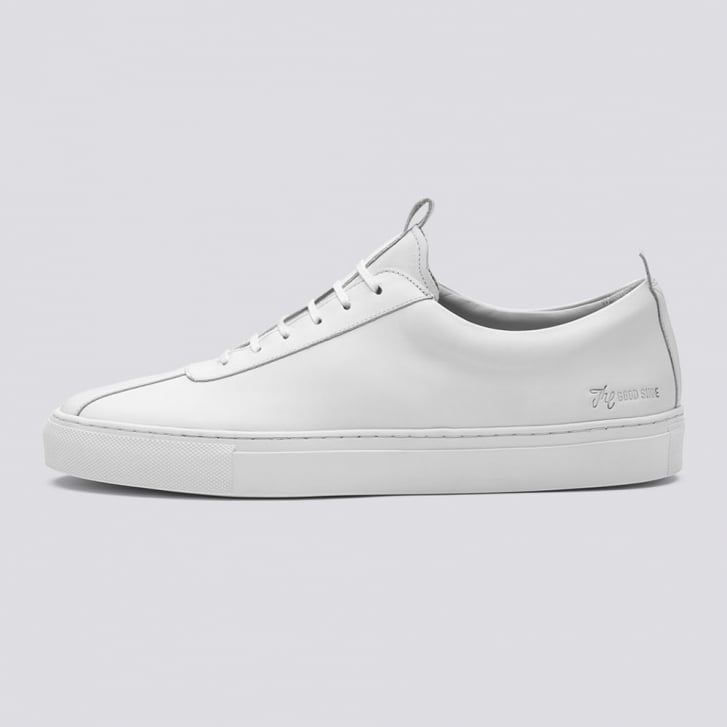 GRENSON Plain White Lace Up Sneaker
