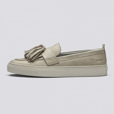 Sneaker 8 Leather Tassel Slip On in Natural