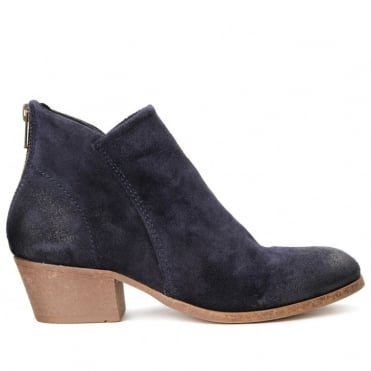 Apisi Ankle Boot Leather, Suede & Velvet