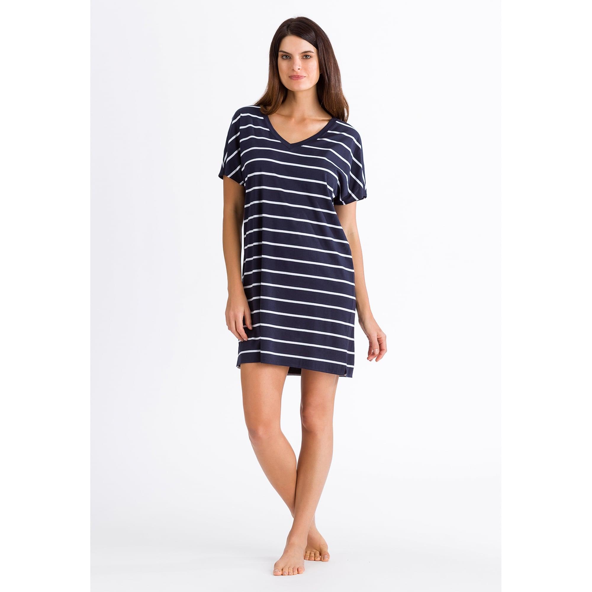 09dbdc8190 Hanro Laura Sleep Shirt in Navy Stripe | Collen & Clare
