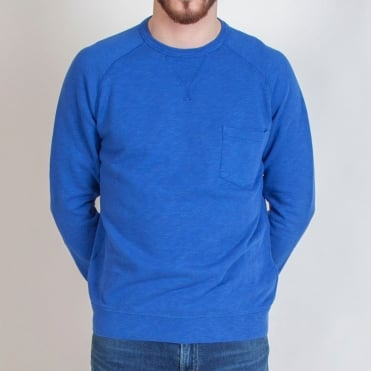 Easy Cotton Sweatshirt in Work Blue