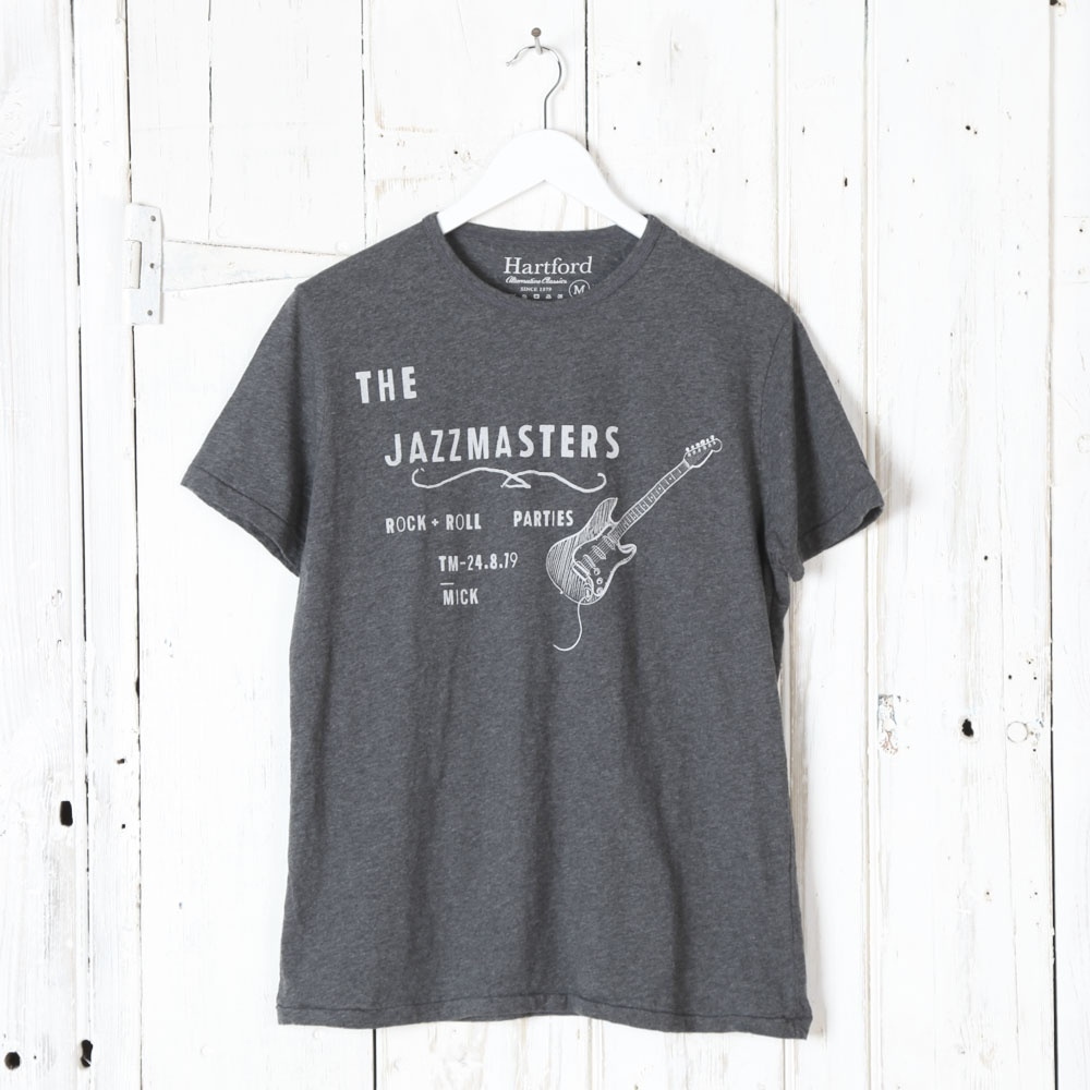 Hartford jazzmasters tee in washed black collen clare for T shirt printing hartford ct