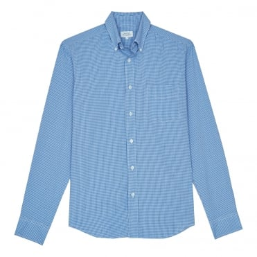 LS Pal Seersucker Button Down Shirt in Blue