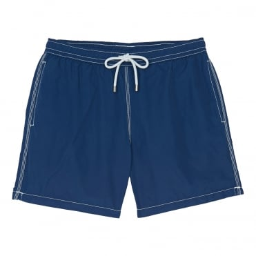 Nylon Garment Dyed Swim Short in Navy