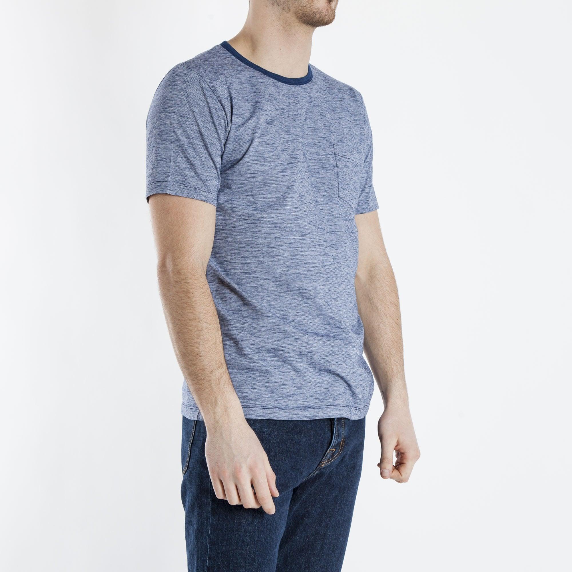 a315b38bc Pocket Crew Stripe T Shirt in Indigo