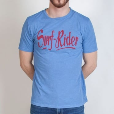 Surf Rider Logo T Shirt in Blue