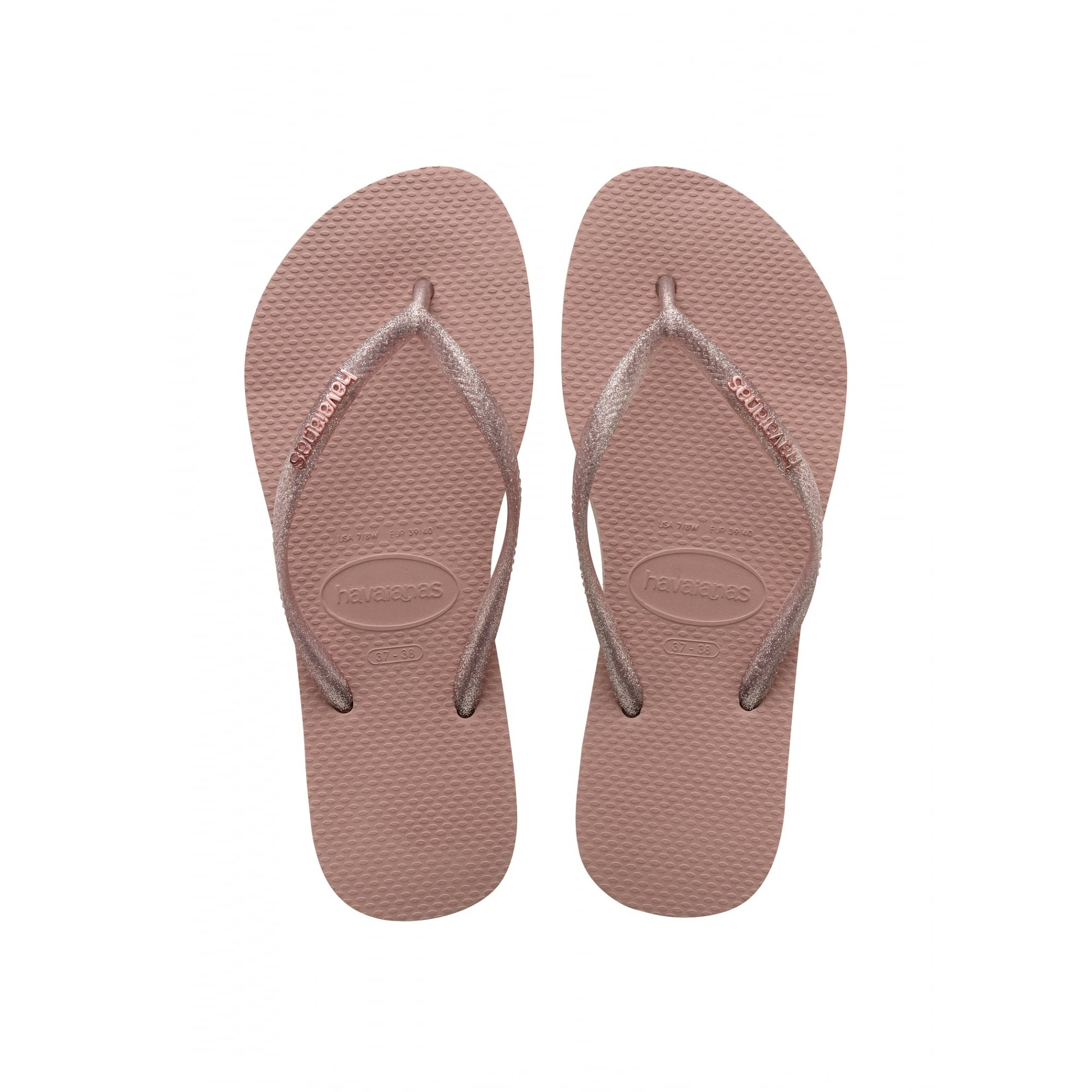 f7a0d0968 HAVAIANAS Slim Logo Metallic Flip Flop in Pink Rose - Woman from Collen    Clare UK
