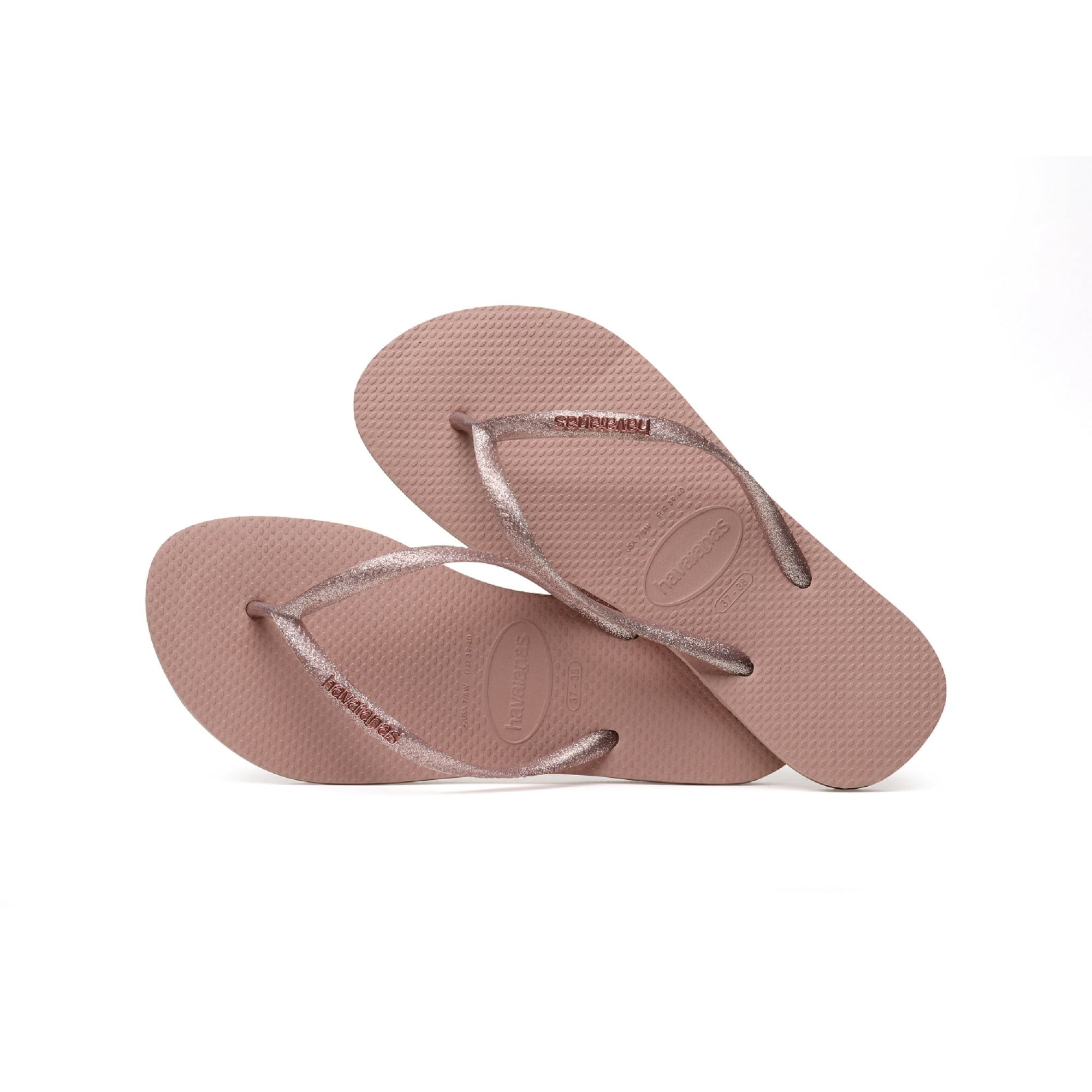 e4419fd2e HAVAIANAS Slim Logo Metallic Flip Flop in Pink Rose - Woman from ...