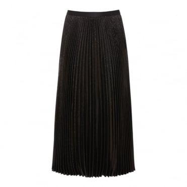 Heavyn Pleated Metallic Lurex Skirt