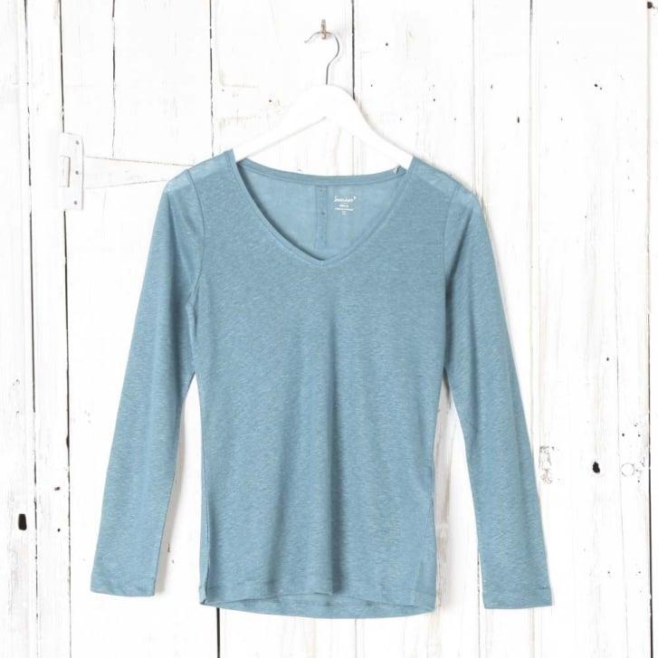 SOMEWHERE Hecq Long Sleeves Linen T-Shirt