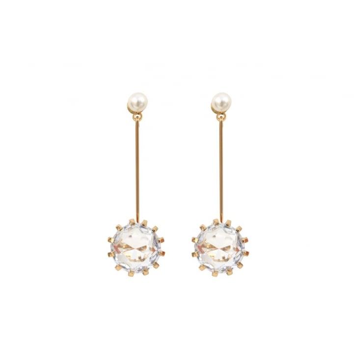 HELENE ZUBELDIA Crystal Glass Pendant Earrings