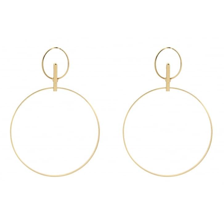 HELENE ZUBELDIA Ergo Gold Earrings