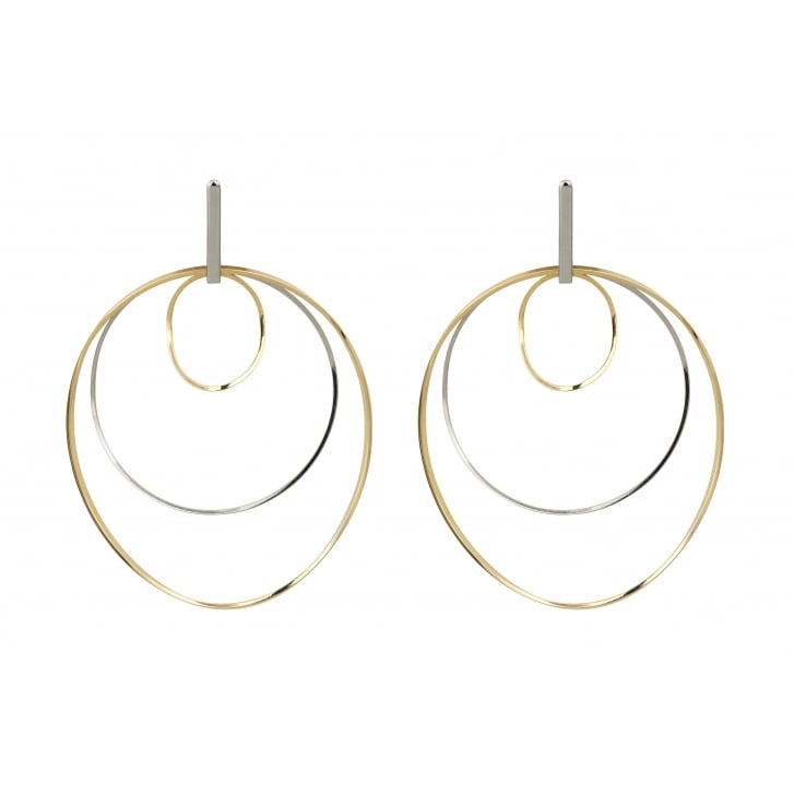 HELENE ZUBELDIA Ergo Rhodium Gold Earrings