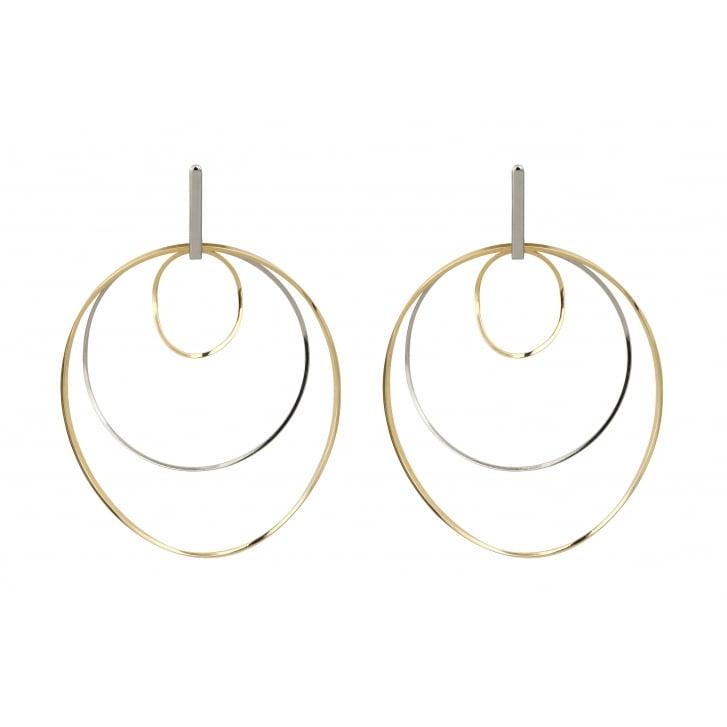 HELENE ZUBELDIA Ergo Rhodium Gold Earrings
