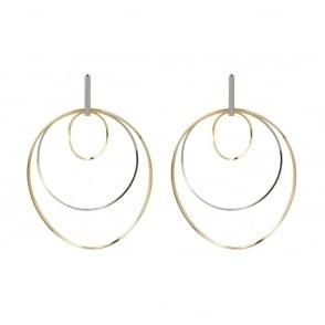 Ergo Rhodium Gold Earrings