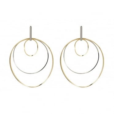 Ergo Rhodium Gold Earrings