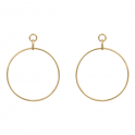 HELENE ZUBELDIA Large Gold Circle Earrings