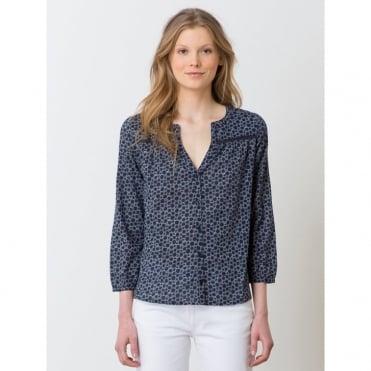 Hikone Cotton Voile Printed Shirt
