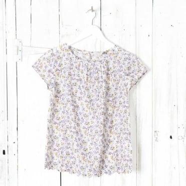 Hiraki Cotton And Silk AOP Blouse