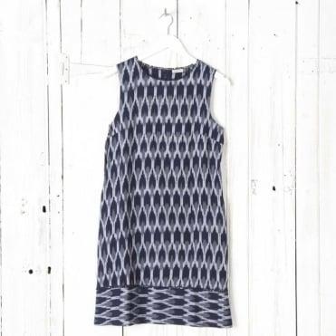 Hiwa Ikat Dress Without Sleeves