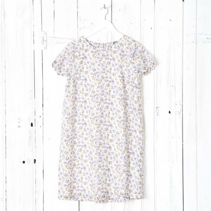 SOMEWHERE Hiwada Printed Trapeze Dress With Short Sleeves In Cotton