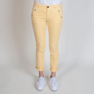Honore Classic Stretch Chino in Blonde Yellow