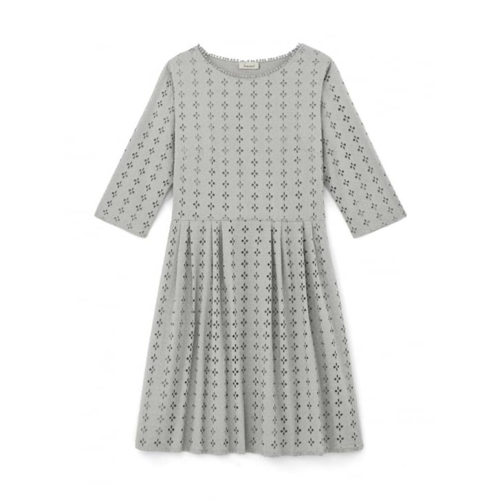 SOMEWHERE PARIS Hoedic Eyelet Embroidered Long Sleeved Dress