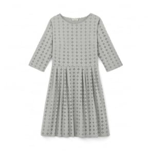Hoedic Eyelet Embroidered Long Sleeved Dress