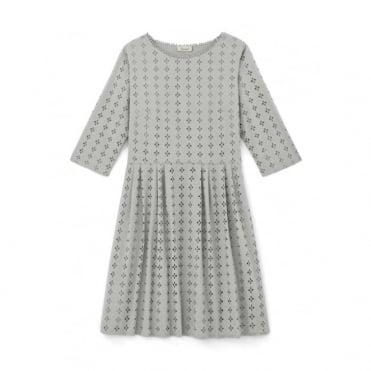 Hoedic Eyelet Embroidered Long Sleeved Dress