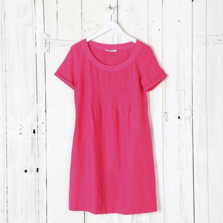 0039 Italy Holiday Pleat Linen Dress