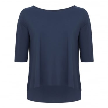 A Line Trapeze Top in Midnight