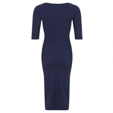 Bardot 3/4 Sleeve Scoop Neck Dress