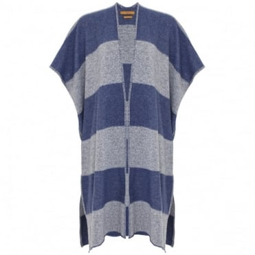 The Long Stripe Knit Kimono