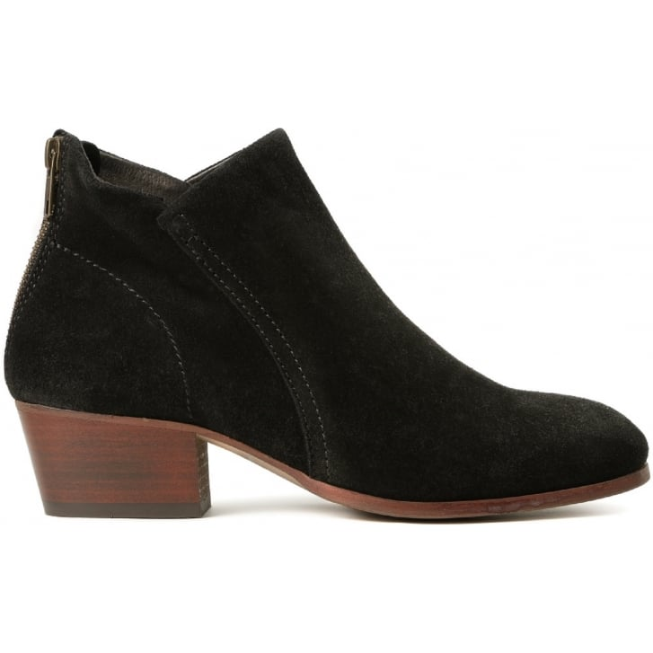 HUDSON LONDON Apisi Suede Easy Heel Boot in Black