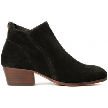 Apisi Suede Easy Heel Boot in Black