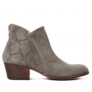 Apisi Suede Snake Boot in Taupe