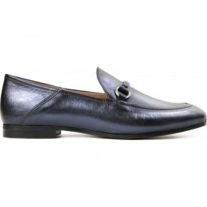Arianna Metallic Loafer in Blue