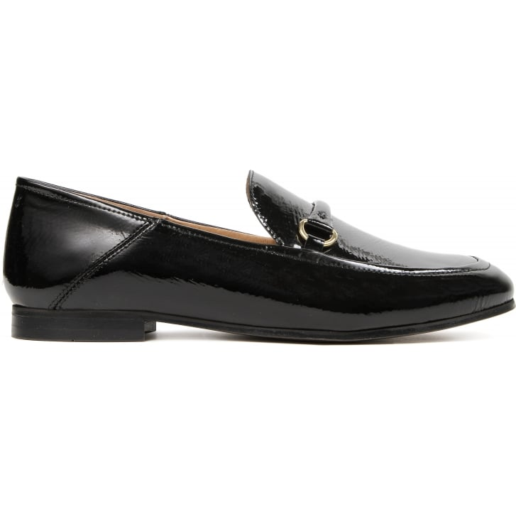 HUDSON LONDON Arianna Patent Loafer in Black