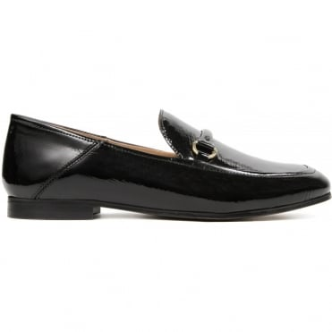 Arianna Patent Loafer in Black