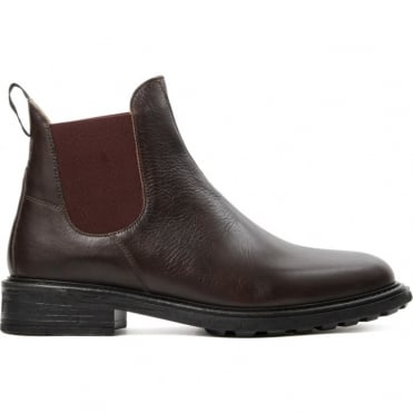 Caslon Calf Boot with Colour Contrast Sides in Brown