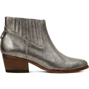 Ernest Metallic Leather Pull On Boot in Calf Gold
