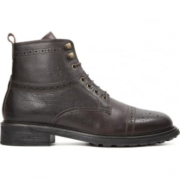 Fernie Brogue Boot in Calf Brown