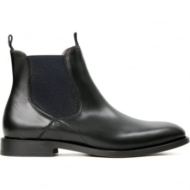 Wynford Calf Smart Chelsea Boot in Black
