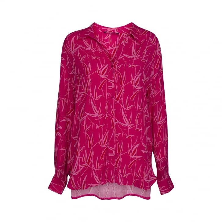 ILSE JACOBSEN Bamboo Print Shirt in Warm Pink