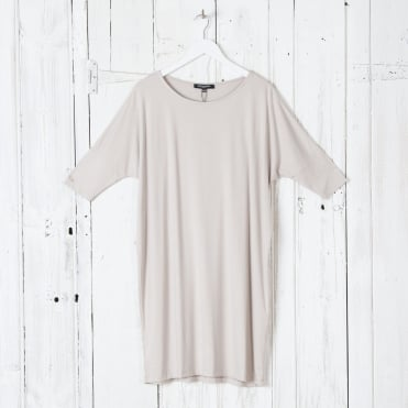 Classic Easy Oversized 3/4 Sleeve T-Shirt in Chateau Grey