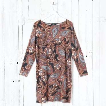 Floral Print Dress in Flame